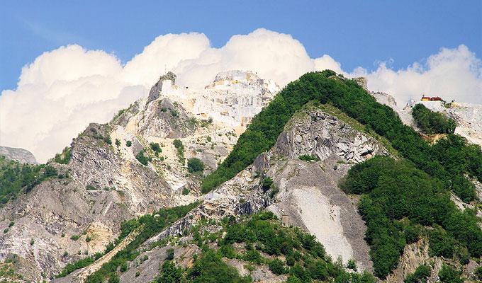 Berge Apuanische Alpen Marmor Steinbruch